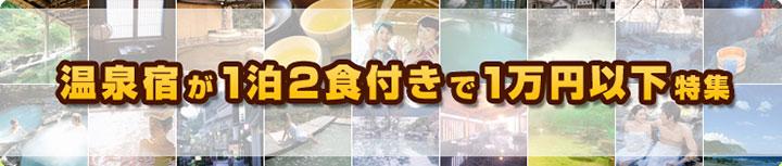 じゃらんネット 温泉宿が1泊2食付きで1万円以下特集