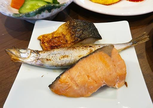 レックスホテル別府 朝食の焼き魚