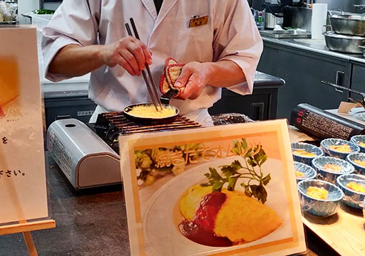 レックスホテル別府 朝食のオムレツ