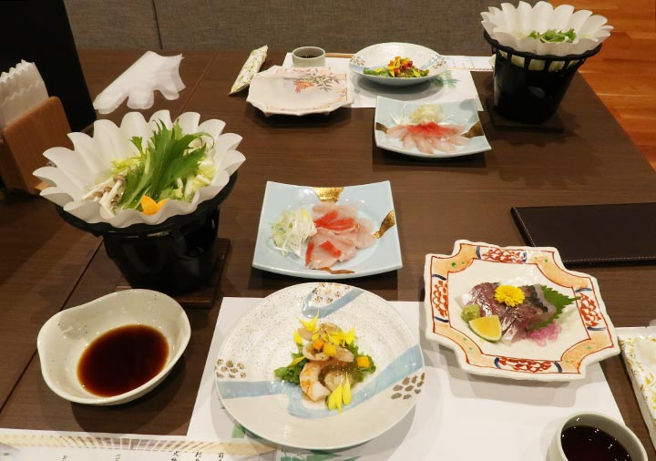 レックスホテル別府 夕食の華コース