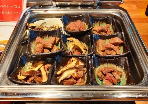 レックスホテル別府 夕食のステーキ