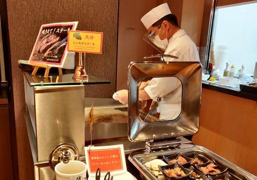 レックスホテル別府 夕食のライブキッチン