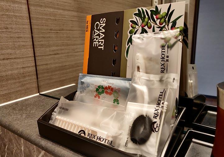 レックスホテル別府 客室のアメニティ類