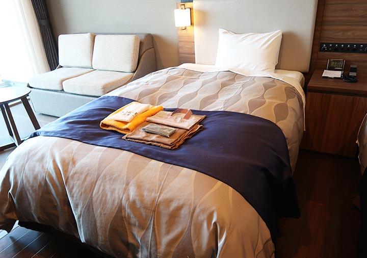 レックスホテル別府 客室のベッド