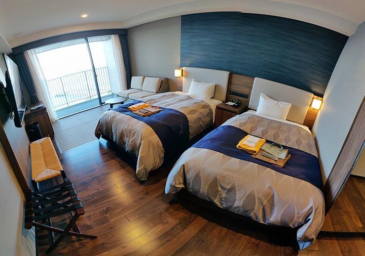 レックスホテル別府 客室のパノラマ画像