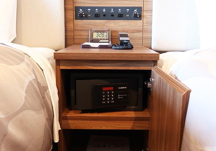 レックスホテル別府 客室のセーフティーボックス
