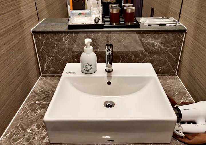 レックスホテル別府 客室の洗面台