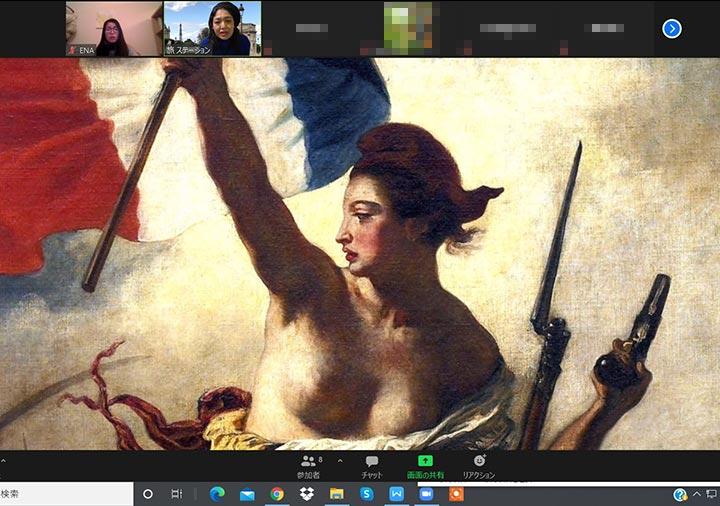 ベルトラのルーブル美術館オンラインツアー 民衆を導く自由の女神の女神