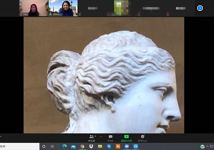 ベルトラのルーブル美術館オンラインツアー ミロのヴィーナスの顔
