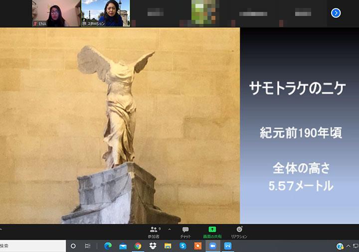 ベルトラのルーブル美術館オンラインツアー サモトラケのニケ