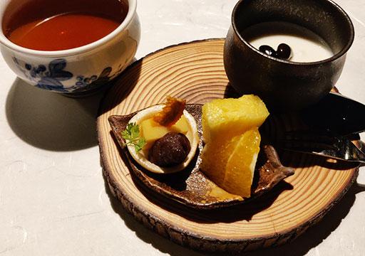 黒川温泉 旅館山河 夕食のデザート