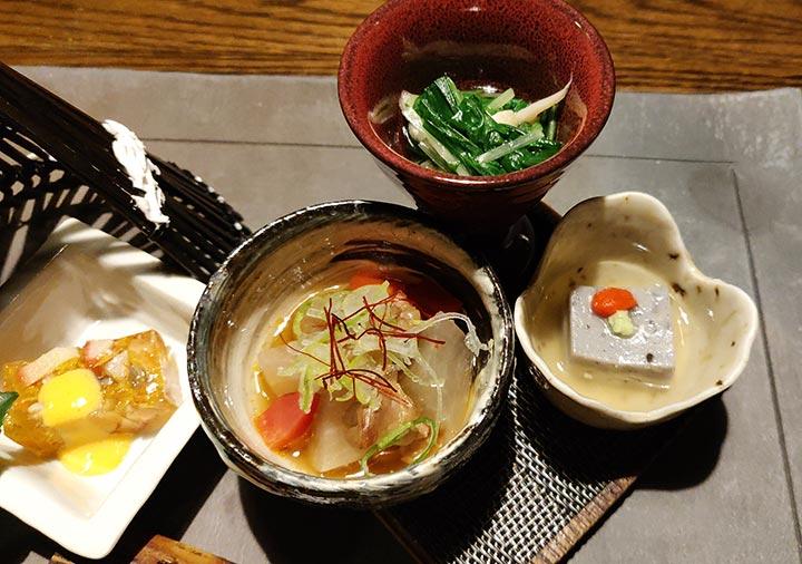 黒川温泉 旅館山河 夕食の前菜