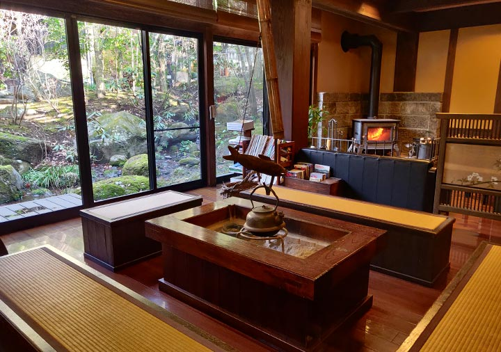 黒川温泉 旅館山河 ロビー
