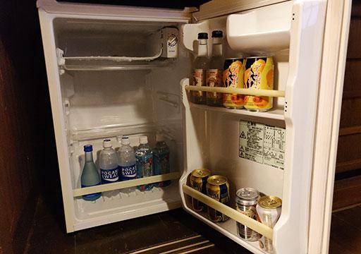 黒川温泉 旅館山河 客室の冷蔵庫