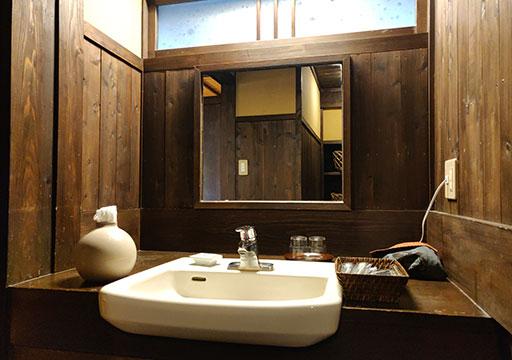 黒川温泉 旅館山河 客室の洗面台