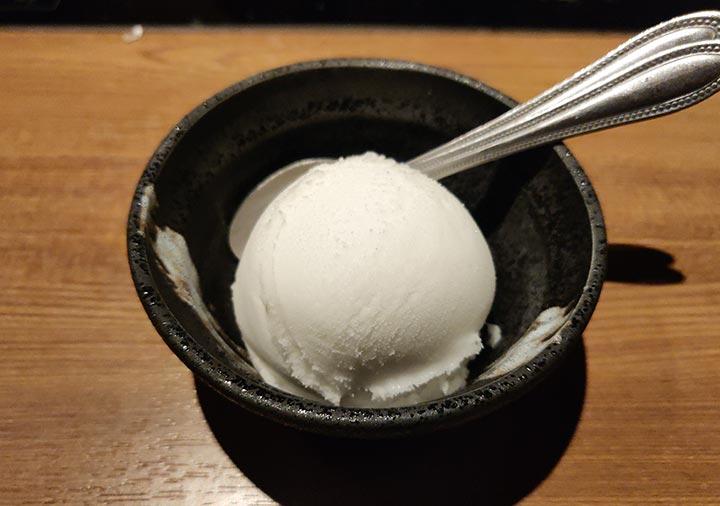 博多もつ鍋おおやま本店 洋ナシシャーベット