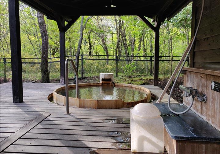 フリューゲル久住 客室の露天風呂