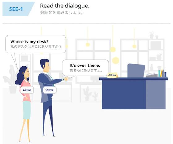 オンライン英会話ビズメイツ Level0 RankAeの教材