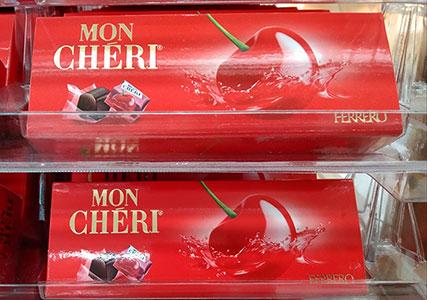 イタリアのチョコレート モンシェリ