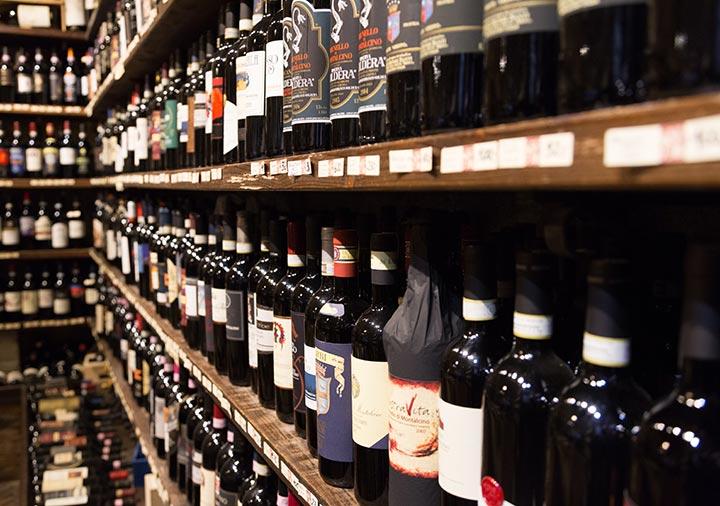 イタリアのワインの店