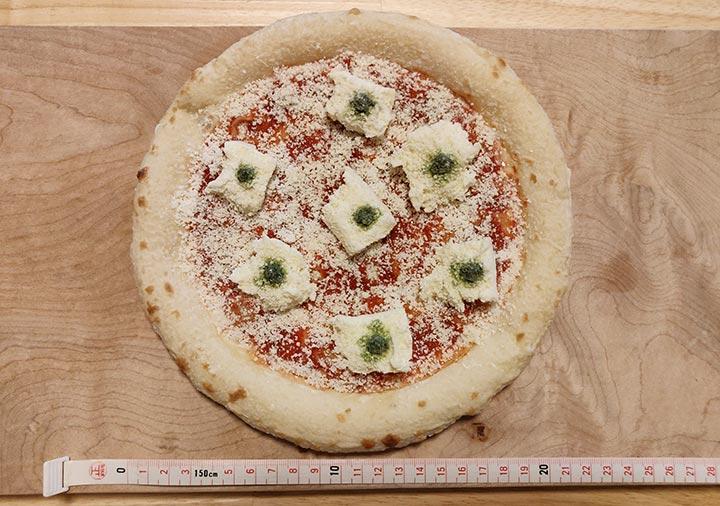 森山ナポリ 冷凍ピザのサイズ