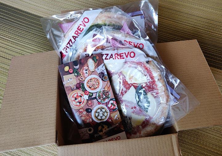 ピザレボ(PIZZAREVO)の冷凍ピザ 同梱物