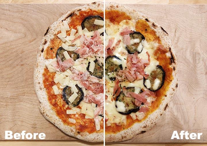 ピザレボ(PIZZAREVO)の冷凍ピザ 茄子とベーコンのアラビアータ