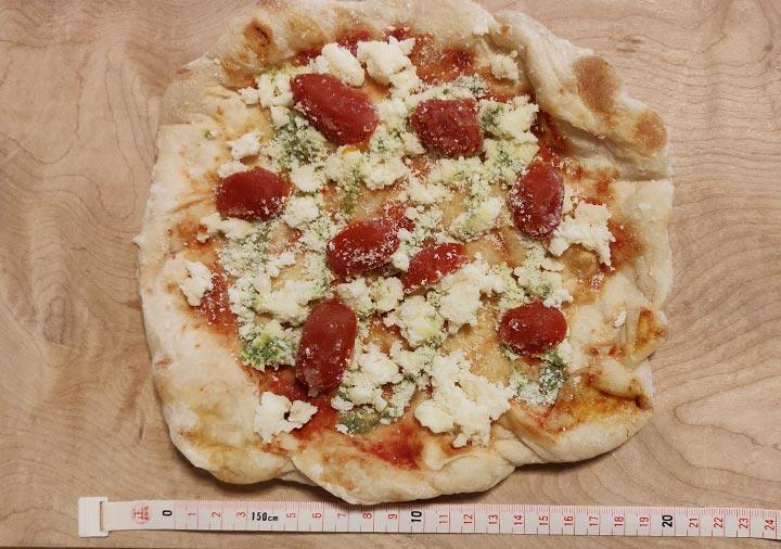 PST六本木 冷凍ピザのサイズ